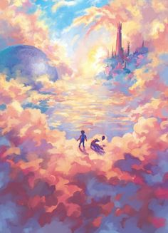 Above the cloud illustration Source by noayukka Related posts: Wallpaper Android – Illustration Inspiration. This illustration really caught my eye because it is v… Wallpaper Android – Horror Aesthetic Art And Illustration, Kunst Inspo, Art Inspo, Fantasy Landscape, Landscape Art, Anime Kunst, Anime Art, Fantasy Kunst, Fantasy Art