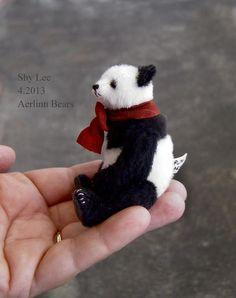 "Miniature 3 1/2"" Panda from Aerlinn Bears"