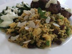 Marokkaanse rijst met koriander aioli