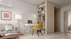 2. Scandinavian interior living room