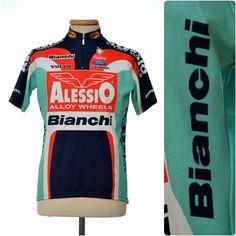 Bianchi Alessio Nalini 2003 mens CYCLING JERSEY size M retro vintage rare Italy #Nalini Team Cycling Jerseys, Retro Vintage, Italy, How To Wear, Men, Tops, Italia, Guys