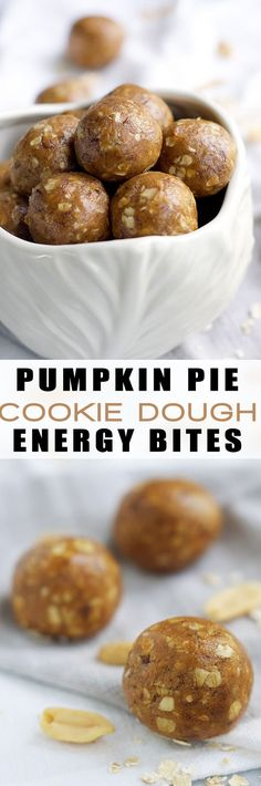 A good for you snack made with wholesome ingredients and have all the flavors of fall! Pumpkin Pie Cookie Dough Energy Balls will help curb your craving for sweets, yet are healthy for you!