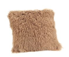 Large Lamb Fur Pillow in Natural - Moe's Home Collection - $177 - domino.com