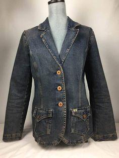 Levi Strauss Signature Blazer Size Large Sharp Classic Denim Jacket | Clothing, Shoes & Accessories, Women's Clothing, Coats & Jackets | eBay!