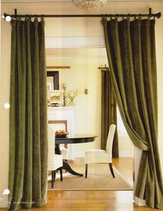 Another Curtain Idea To Separate But Not Divide Rooms (BHG Magazine)