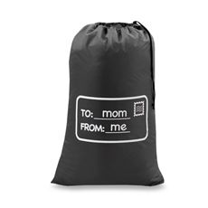 Novelty Laundry Bag - To Mom, From Me/Charcoal Gray. Bed Bath and Beyond