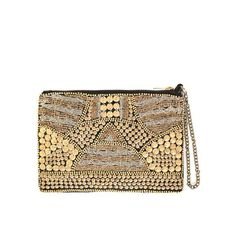 gold studded wallet