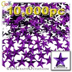 10000-pc Acrylic foil Flatback Star shape Rhinestones 6mm Purple