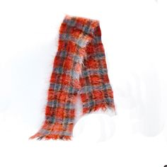 Pitlochry Mohair Wool Scarf Winter Accessory Scotland Peach Blue by StarfishCollectibles on Etsy Vintage Outfits, Vintage Clothing, Winter Accessories, Wool Scarf, Detailed Image, Going Out, Scotland, Peach, Blue