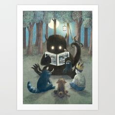 Reading Circle (option) Art Print by opifan64 | Society6