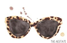 Tortoiseshell Watercolor Print 5 x 7 by THEAESTATE on Etsy