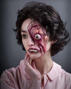 Special effects makeup by Rick Baker 👀 Makeup Fx, Movie Makeup, Scary Makeup, Halloween Make Up, Halloween Face Makeup, Prosthetic Makeup, Monster Makeup, Fantasy Make Up, Horror Makeup