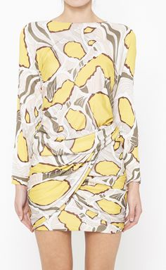 Emilio Pucci Yellow, White And Brown Dress | VAUNTE' I really like this dress! !