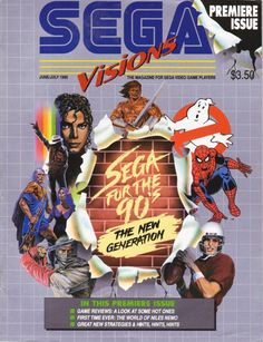 Sega Visions: The Magazine That Turned Me To The Darkside Sega Video Games, Computer Video Games, Video Game Magazines, Gaming Magazines, Video Game Shelf, Video Game Console, Star Citizen, Playstation, Video Game Cakes