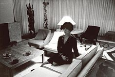 tableau and photography of a stylish home c. 1959  by Cindy Sherman