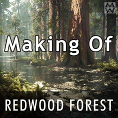 Redwood Forest - Making Of, Willi Hammes Game Environment, Environment Design, Coding Tutorials, Zbrush Tutorial, Video Game Development, Redwood Forest, Game Engine, Unreal Engine, Biomes