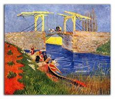 off Hand made oil painting reproduction of The Langlois Bridge at Arles with Women Washing, one of the most famous paintings by Vincent Van Gogh. In Vincent Van Gogh moved to Arles, where he is greatly inspired by its landscapes. Art Van, Van Gogh Art, Vincent Van Gogh, Impressionist Artists, Pierre Auguste Renoir, Dutch Painters, Post Impressionism, Paul Gauguin, Art Database