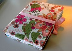 Notebook Cover using fat quarters...so cute for a journal
