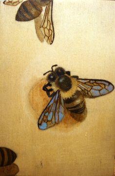 Bee Art Panel 5. $35.00, via Etsy.