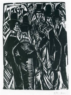 Street Scene: In Front of the Shop Window - Ernst Ludwig Kirchner ...