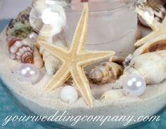 14mm pearls - vase accents  www.yourweddingcompany.com