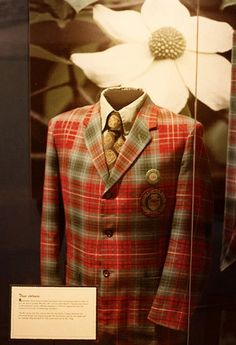 Exhibit at the Royal B.C. Museum in Victoria. Maple Leaf Tartan.