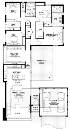3100 Sq Ft House Plans Beautiful 3100 Square Ft Length 83 Width 45 73 with Images Narrow House Plans, Small House Floor Plans, Home Design Floor Plans, Family House Plans, Bedroom House Plans, New House Plans, Dream House Plans, The Plan, How To Plan