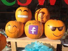 Pumpkin Emoticons at The Sweet Shop! Saffron walden fab window displays #indie
