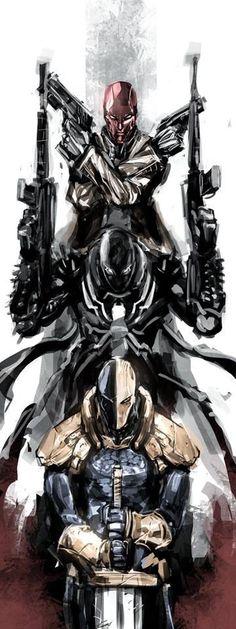 Red hood. Agent venom. Death stroke. Hard core kill team