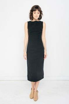 Elise Dress in Stretch Cotton