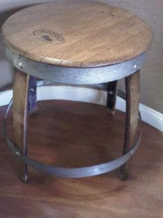 Wine Barrel End Table by vanessalopiccolo on Etsy, $185.00