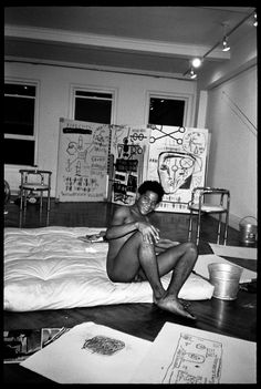 """Jean-Michel Basquiat from the exhibition """"Jean-Michel Basquiat, Reclining Nude,"""" by Paige Powell"""