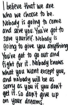 You got to save yourself!!