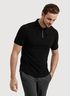 Men's Polo with Zippered Collar | On and Off The Clock Polo | Kit and Ace