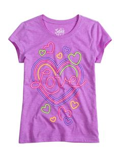 Neon Heart Graphic Tee | Peace Love & Justice | Graphic Tees | Shop Justice