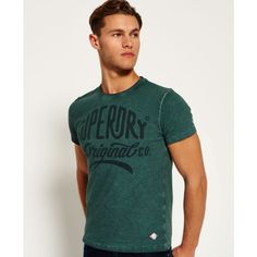 Shop Superdry Mens Work Wear Over Dyed T-shirt in Green. Buy now with free delivery from the Official Superdry Store. Superdry Mens, Dye T Shirt, Work Wear, Tees, Shirts, Mens Tops, Stuff To Buy, How To Wear, Clothes