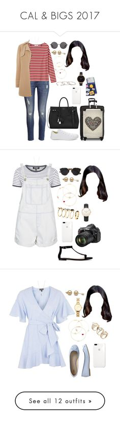 """""""CAL & BIGS 2017"""" by ittgirl ❤ liked on Polyvore featuring H&M, Toast, Converse, Vince Camuto, Yves Saint Laurent, Tumi, IKASE, The Row, Jennifer Meyer Jewelry and Alison Lou"""