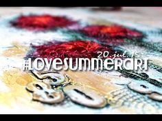 #lovesummerart: grunge flower canvas - YouTube