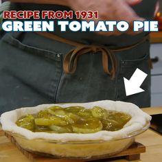 1931 Green Tomato Pie Recipe 💚🍅 | Facebook Green Tomato Pie, Green Tomatoes, Sauce Recipes, Pie Recipes, How To Make Taco, Good Pie, Fruit Pie, Pie Shell, Home Economics