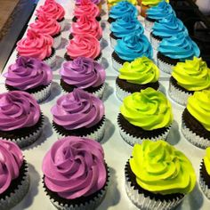 Image detail for -Neon Cupcakes