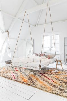 oh cool! at first I thought it was a hanging chair or something but it's a bed! not sure if Id like to sleep in this but it might be a nice extra bedroom or guest room that I could use once in a while