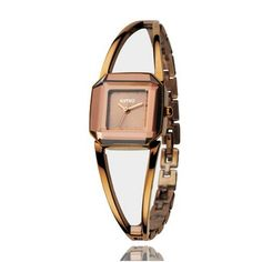 New Arrival KIMIO Luxury Women's Quartz Watches Waterproof Stainless Steel Hollow Square Bracelet Ladies Watches montre femme Fossil Watches, Cool Watches, Women's Watches, Swatch, Skeleton Bracelet, Rose Gold Watches, Quartz Watches, Skeleton Watches, Beautiful Watches