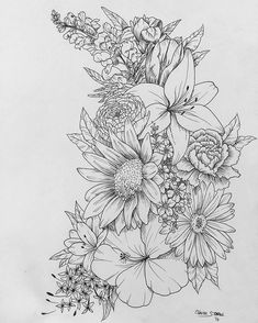 Replace the orchids with sunflowers and add color #HotTattoos