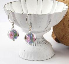 lampwork bead & sterling silver earrings by DesignsbyCaz on Etsy, £17.00