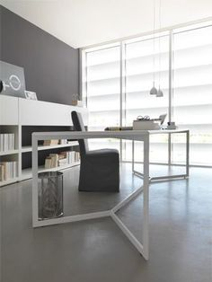 Modern grey and white office