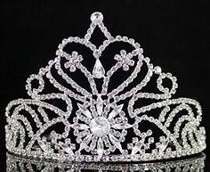 Dazzling Pageant Rhinestone Crystal Tiara Crown w/ Hair Combs Bridal Prom T1292 *** See this great product. (This is an affiliate link and I receive a commission for the sales)
