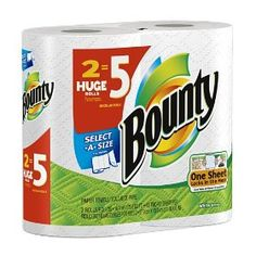 Bounty Huge Roll, Select a Size,  White, (bounty, paper towel, paper towels)