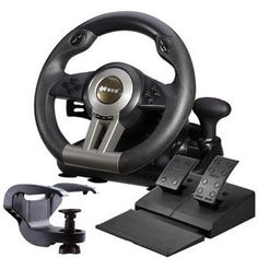 Laishida PXN-V3 Simulation Automobile Race Vibration Steering Wheel For Computer