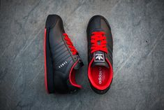 adidas Samoa | Black & Poppy Red