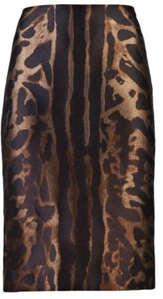 Alexander Mcqueen Pencil Skirt in Animal (black)
